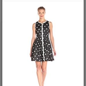 Betsey Johnson Black/white Polka Dot Dress Size 8!